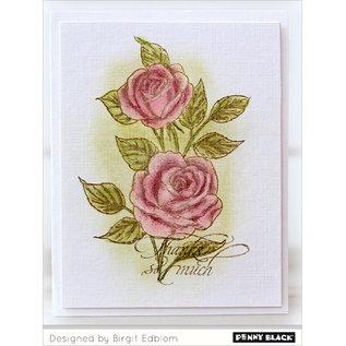 Penny Black Gummi stempel, vintage roser