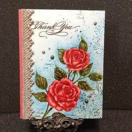 Penny Black Sello de goma, rosas vintage.