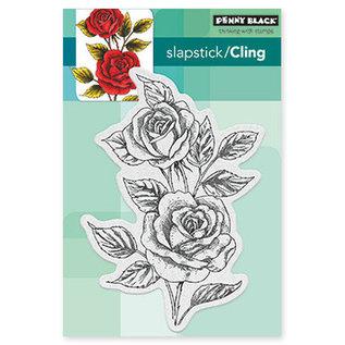 Penny Black Rubberzegel, uitstekende rozen