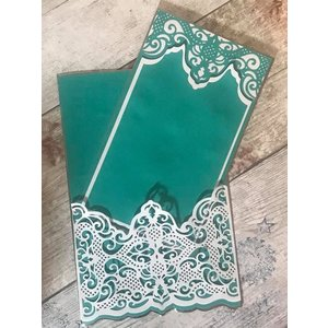 Die'sire Die´sire, Snij en embossing mallen: Traditional Lace, 139 x 50 mm