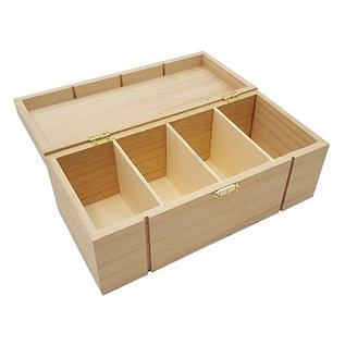 Holz, MDF, Pappe, Objekten zum Dekorieren Wooden box with compartments for decoration