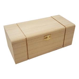Holz, MDF, Pappe, Objekten zum Dekorieren Boîte en bois avec compartiments pour la décoration