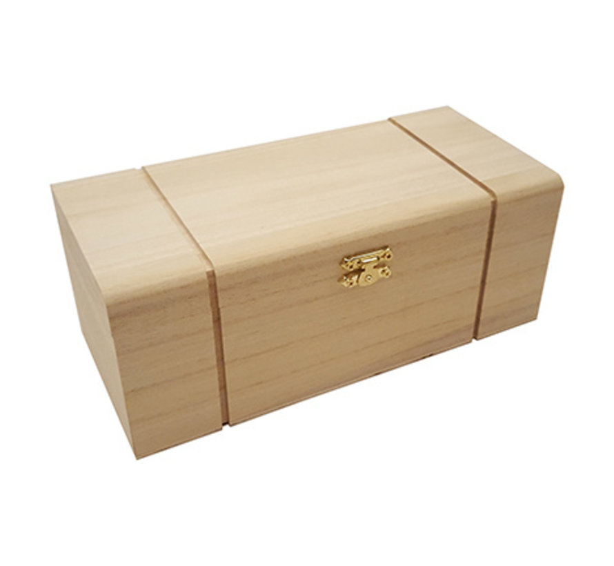 Wooden box with compartments for decoration
