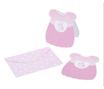 BASTELSETS / CRAFT KITS 6 kaarten voor babymeisjes + envelop
