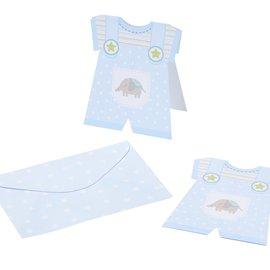 BASTELSETS / CRAFT KITS 6 babykort + kuvert, drenge