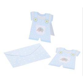 BASTELSETS / CRAFT KITS 6 Baby  Karten + Kuvert, Jungen