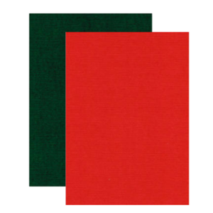 Karten und Scrapbooking Papier, Papier blöcke Linnen karton, A4, 240 gr, 5 x kerst rood en 5 x kerst groen