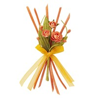 Decoration as decoration: roses with ribbon, ca. 13 cm, coral