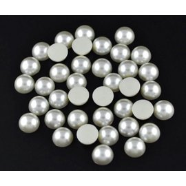 Embellishments / Verzierungen 200 half pearls, 6mm, with beautiful mother-of-pearl shimmer. They are ideal for decorating cards, boxes, scrapbooks, albums and many other craft ideas.