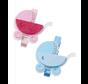 Baby-Wagen, ca. 4 cm mit Clip, blau,  3 Stück!  Baby in Auswahl für Mädchen oder Jungen