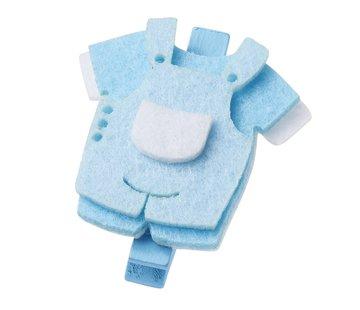 Embellishments / Verzierungen Pantalon bébé, environ 4 cm avec clip, bleu, 3 pièces.