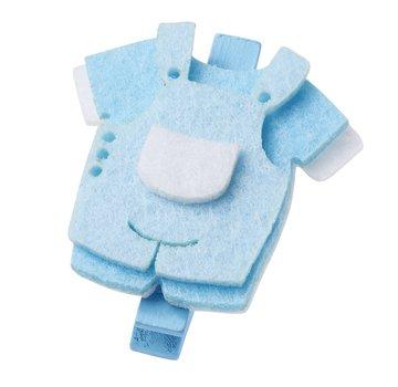 Embellishments / Verzierungen Baby-Hose, ca. 4 cm mit Clip, blau,  3 Stück.