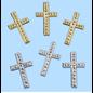 Embellishments / Verzierungen Kryss, ca 3 cm, 3 stk. Valg i sølv eller gullfarge. Å designe på kort
