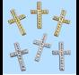 Kruis, ongeveer 3 cm, 3 stukken. Keuze in zilveren of gouden kleur. Op kaarten ontwerpen