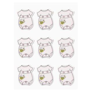 Embellishments / Verzierungen Sticker Strampler, in Auswahl rosa oder blau