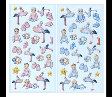 Embellishments / Verzierungen SOFTY-Sticker, Auswahl aus Babygirl oder Babyboy