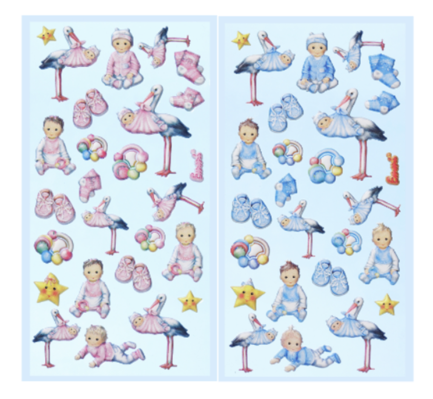 SOFTY-Sticker, Selection from Babygirl or Babyboy