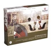 Spellbinders und Rayher Kit completo: fieltro amigos del bosque para colgar.