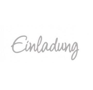 Spellbinders und Rayher Estampage kit de modèle: invitation texte