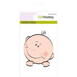 Craftemotions Timbro, trasparente, A6 - faccia da bambino