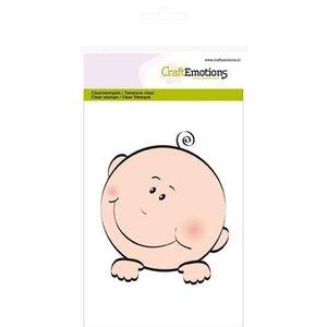Crealies und CraftEmotions Frimærke, gennemsigtig, A6 - baby ansigt