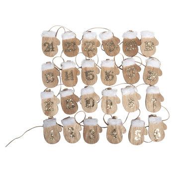 Embellishments / Verzierungen PREPARAZIONE ARTIGIANATO per il periodo natalizio: 24 guanti da calendario in legno dell'avvento su clip