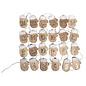 Embellishments / Verzierungen 24 Holz Adventskalender-Handschuh auf Klammer