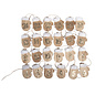 Embellishments / Verzierungen VOORBEREIDING KNUTSELEN voor Kerstmis: 24 houten adventkalender handschoen op clip