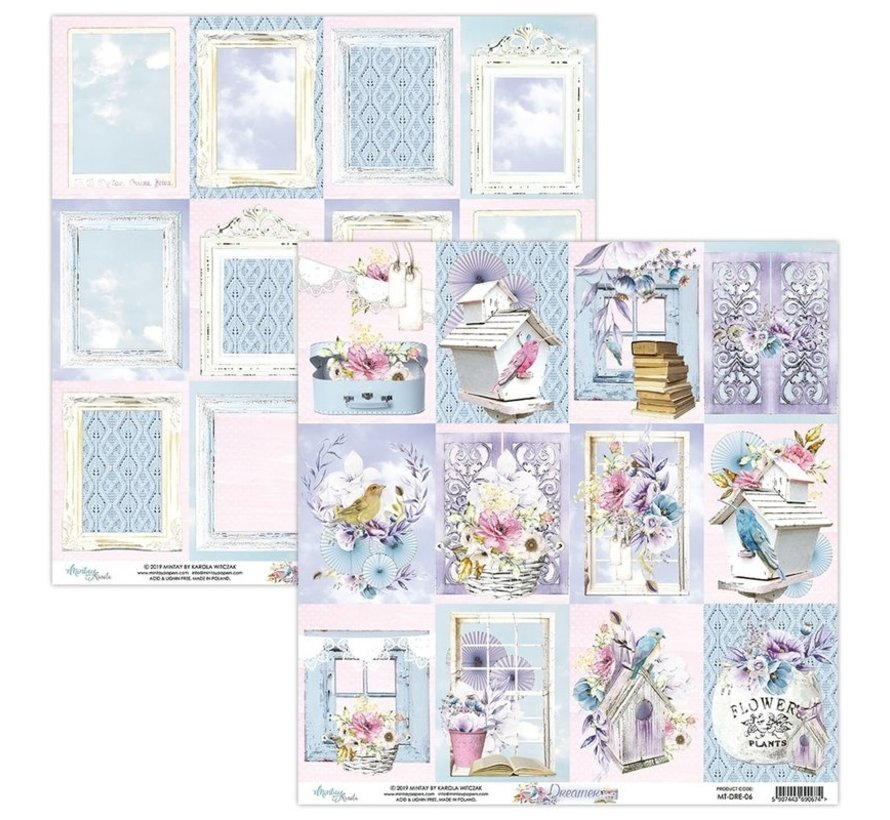 Cards and scrapbook paper, 30.5 x 30.5 cm, Dreamer