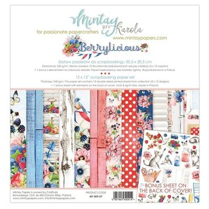 Cards and scrapbook paper, 30.5 x 30.5 cm, Berrylicious