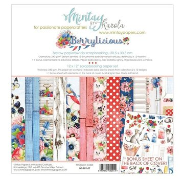 Mintay Cards and scrapbook paper, 30.5 x 30.5 cm, Berrylicious