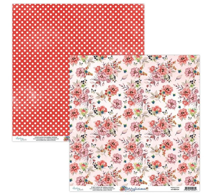Karten und Scrapbook Papier, 30,5 x 30,5 cm, Berrylicious