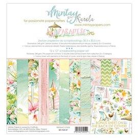 Karten und Scrapbook Papier, 30,5 x 30,5 cm, Paradise.  Zusätzlich enthält dieses Set einen Bonus-Bogen mit tollen Ausschneideelementen.