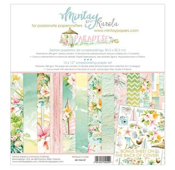 Mintay Cards and scrapbook paper, 30.5 x 30.5 cm, Paradise