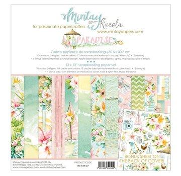 Mintay Karten und Scrapbook Papier, 30,5 x 30,5 cm, Paradise