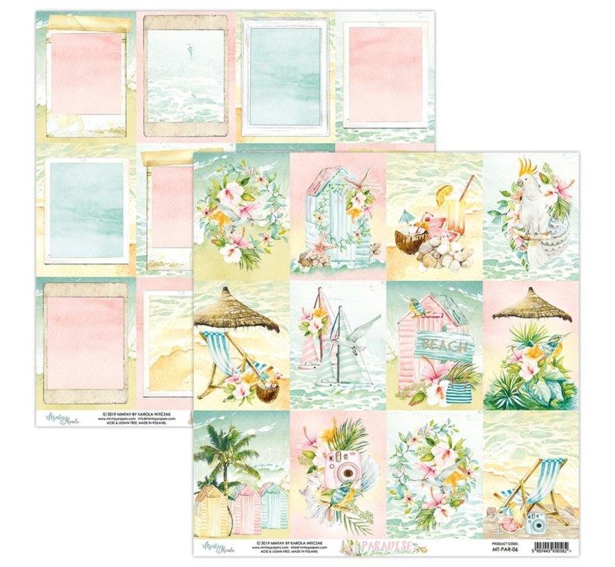 Karten und Scrapbook Papier, 30,5 x 30,5 cm, Paradise