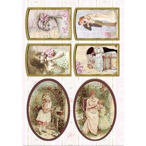Bilder, 3D Bilder und ausgestanzte Teile usw... Die cut Victorian, 240 gr