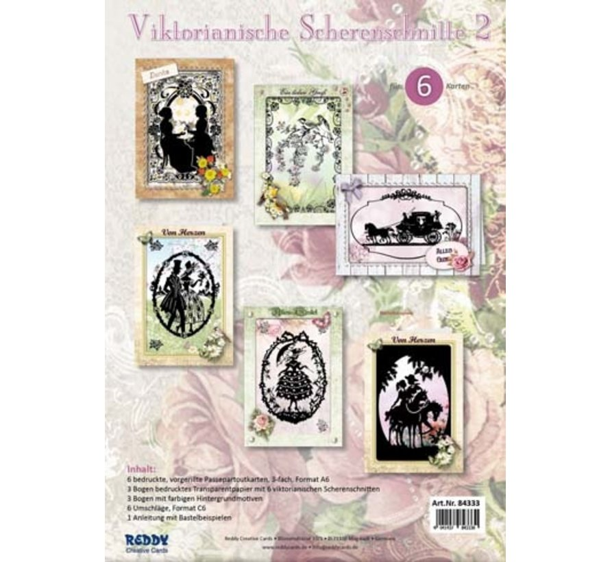 Victorian paper cutouts passport card