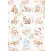 stanzbogen A4 Stanzbogen, 12 vorgestanzter Bilder: Babys
