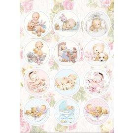 Reddy A4 Stanzbogen, 12 vorgestanzter Bilder: Babys