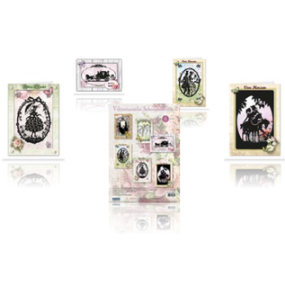 BASTELSETS / CRAFT KITS Victorian paper cutouts passport card
