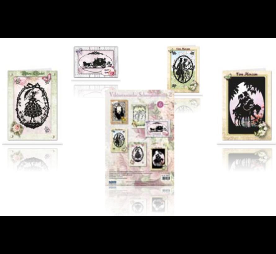 Viktorianische Scherenschnitte  Passepartoutkarte