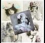 5 Designer Servietten im Vintage Design, Mädchen