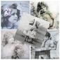 DECOUPAGE AND ACCESSOIRES 5 designer servetten in vintage design, meisje