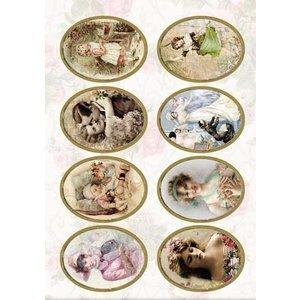 Bilder, 3D Bilder und ausgestanzte Teile usw... Stanzbogen Viktorianisch, 240 gr