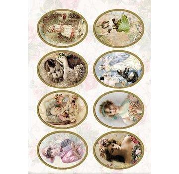 Bilder, 3D Bilder und ausgestanzte Teile usw... Fustellato vittoriano, 240 gr