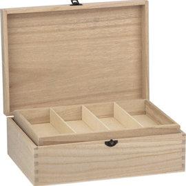 Holz, MDF, Pappe, Objekten zum Dekorieren Scatola in legno con ventaglio, 22 x 31 cm, per la decorazione