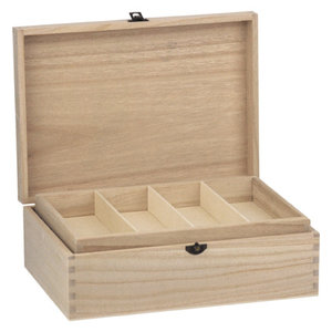 Holz, MDF, Pappe, Objekten zum Dekorieren Holzdose mit Fächer,  22 x 31cm, zum Dekorieren