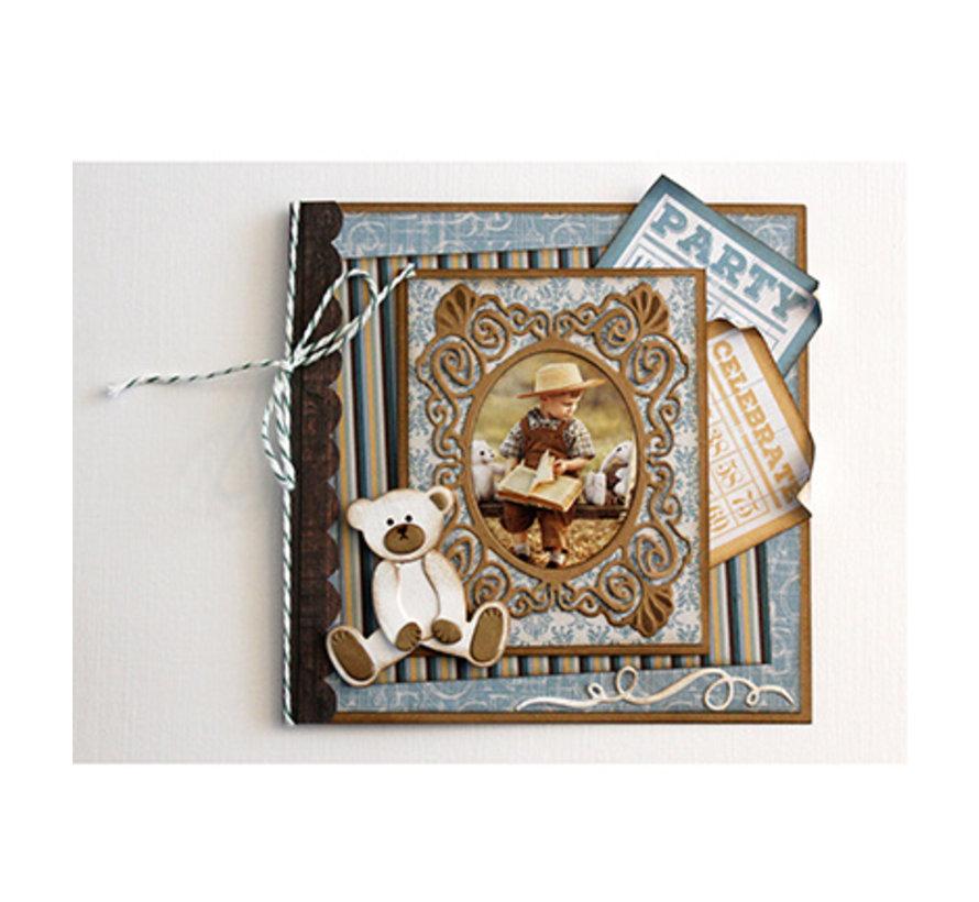Verwenden Sie diese Stanzschablonen mit einer Vielzahl von verschiedenen papier, Karton, Stoffen und Materialien, um atemberaubende Effekte für Ihre Karten, Dekorationen und Scrapbook-Seiten zu erstellen.