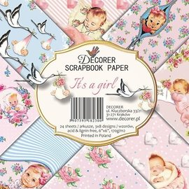 decorer Papierblok, scrapbookpapier, 15 x 15 cm, baby